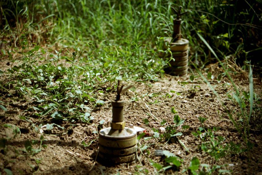Vermintes Gelände im Kosovo. Bild: A. Ellinger
