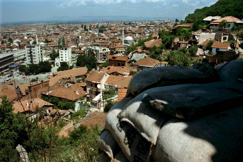 Blick auf Prizren, wo die Bundeswehr stationiert ist. Bild: A. Ellinger